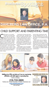 Dahlberg Duluth law office can help. Read about child support, parenting time, custody
